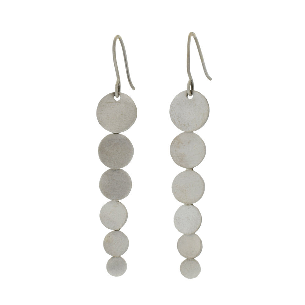 Cascading Circle Earrings in Sterling Silver