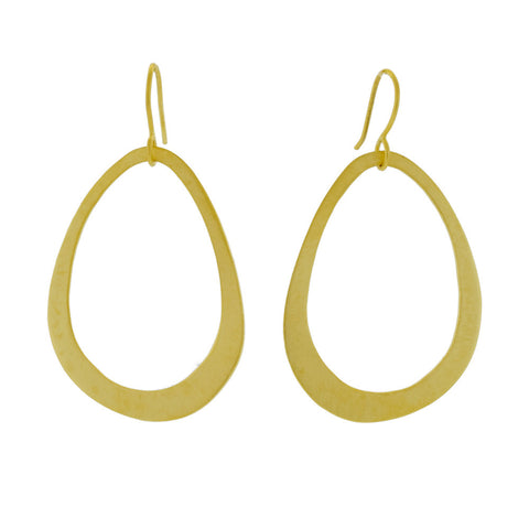 Golden Oval Earrings