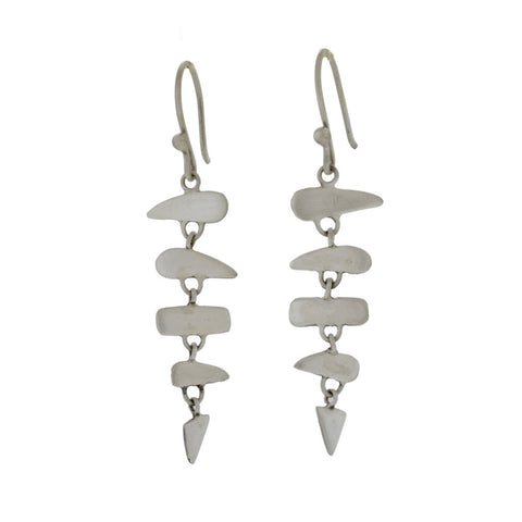 Small Fishbone Earrings in Sterling Silver
