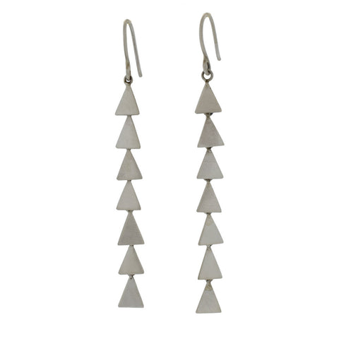 Cascading Triangle Earrings in Sterling Silver