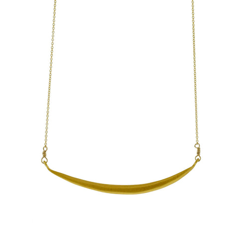 Curved Bar Necklace in Gold Vermeil