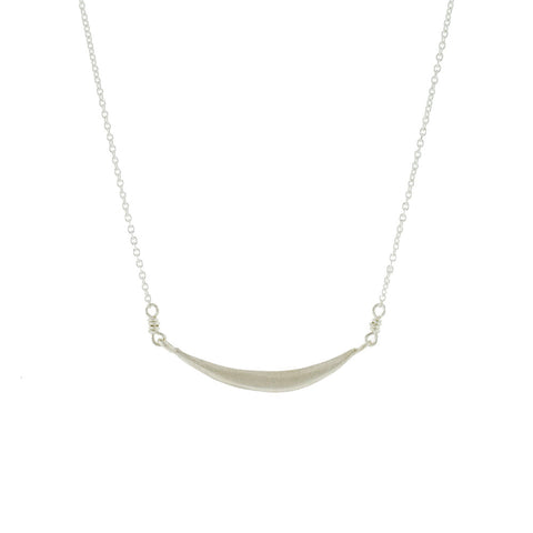Curved Bar Necklace in Sterling Silver