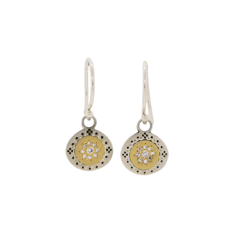 Seeds of Harmony Earrings with Diamonds
