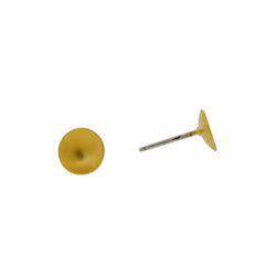 Tasi Gold Vermeil Dish Stud Earrings