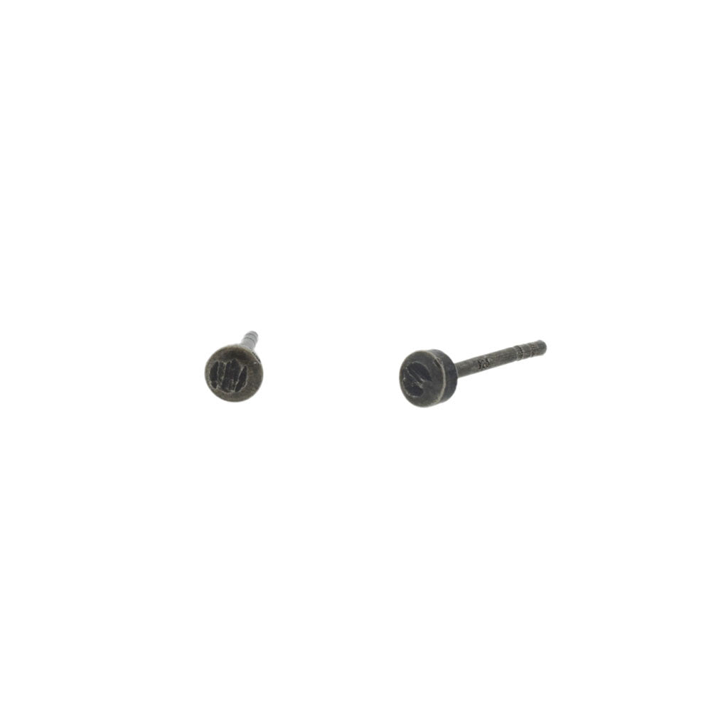 Little Dot Stud Earrings in Blackened Silver