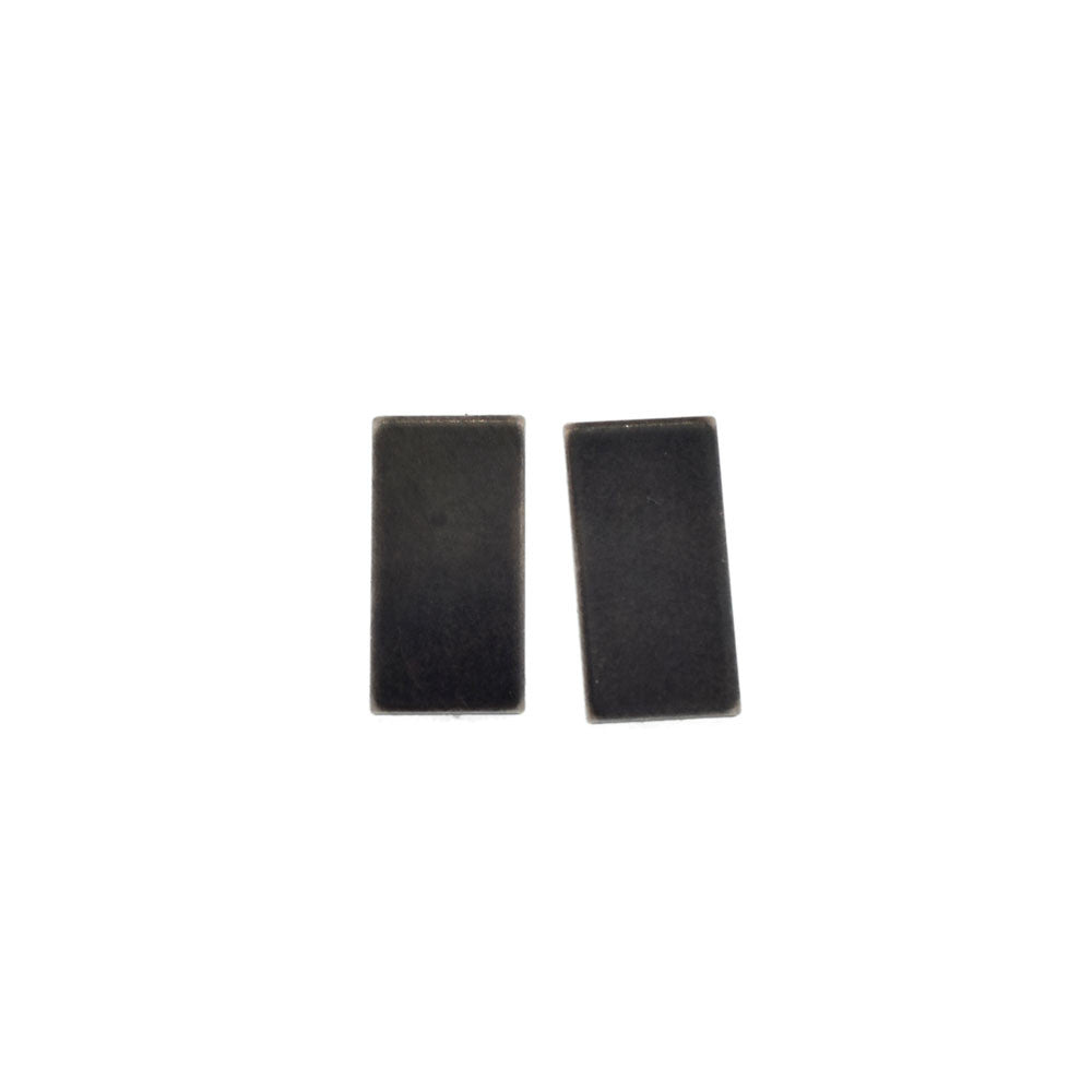 Tasi Sterling Silver Rectangle Studs with Patina