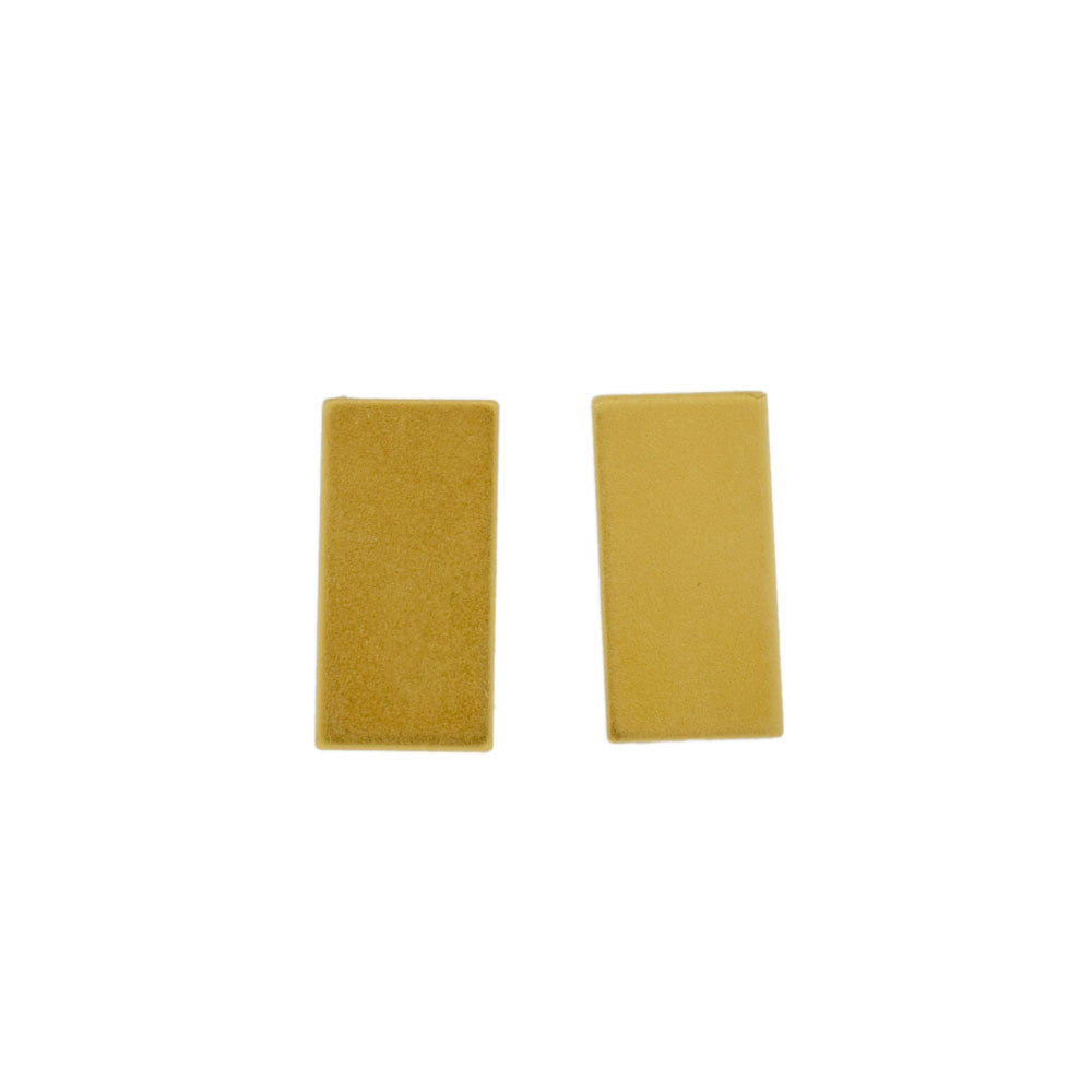 Tasi Rectangle Studs in Gold Vermeil