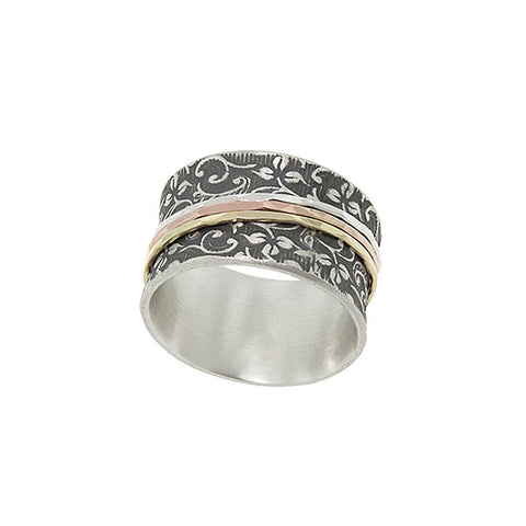 Antiqued Vine Spinner Ring