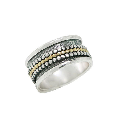 Three Dot Spinner Ring