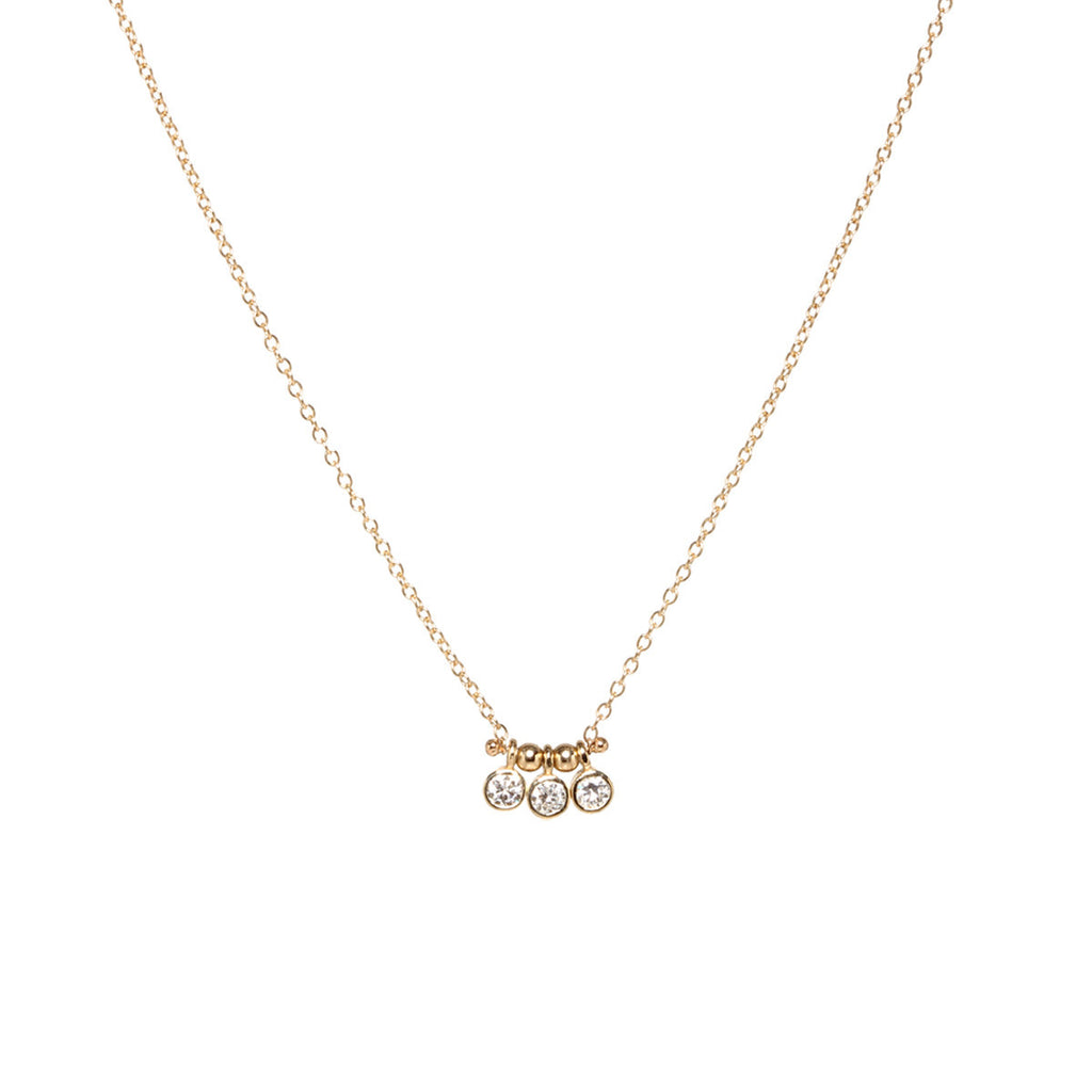 Diamond Trio Necklace in 14K Gold