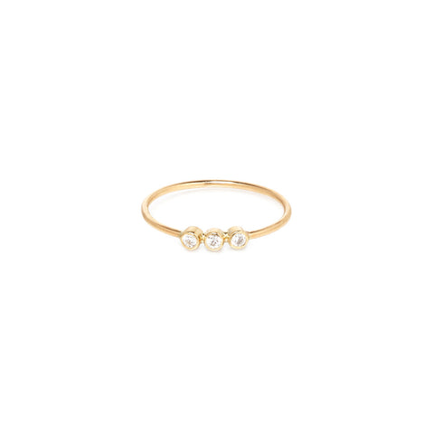 Triple Diamond Stacking Ring in 14K Gold