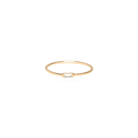 Baguette Diamond Ring in 14K Gold