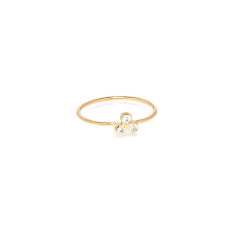 Trio Diamond Ring in 14K Gold