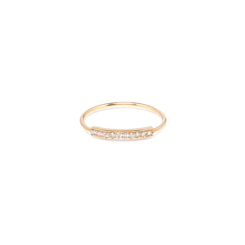 Pave Diamond Ring in 14K Gold