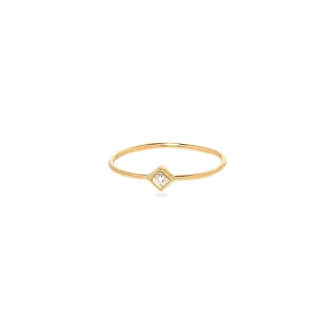 Princess Cut Diamond Ring in 14K Gold