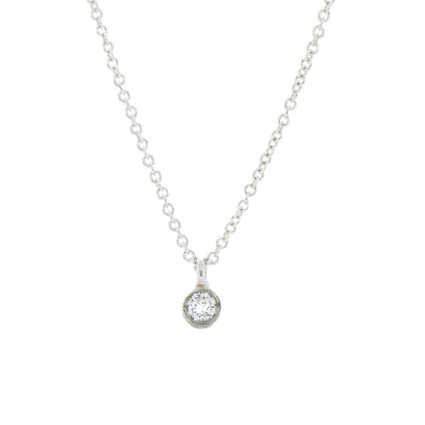 Just a Diamond Silver Necklace