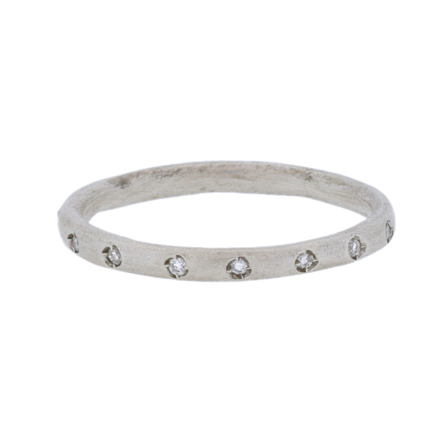 Sterling Silver Eternity Band with 16 Diamonds
