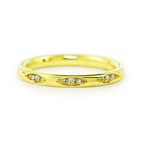 Clara Ring with Diamonds in 18KY Gold