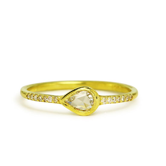 Davis Ring in 14KY Gold and Diamonds
