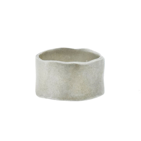Wide Organic Silver Ring