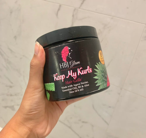 Keep My Kurls Hair Gelle' (16 oz) - HBJ Glam