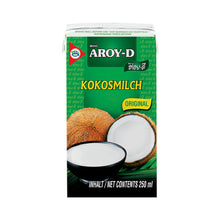 Load image into Gallery viewer, Aroy-D Kokosmilch 250ml