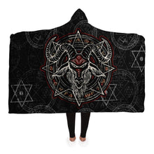 Load image into Gallery viewer, Baphomet Hooded Blanket