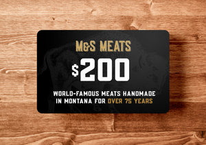 M&S Meats Gift Card - SALE 20% OFF