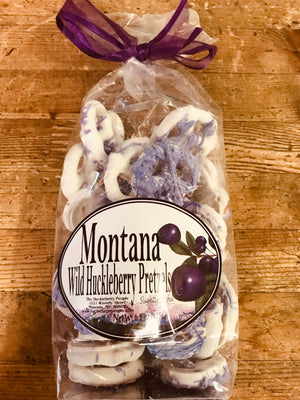 Wild Huckleberry Yogurt Covered Pretzels