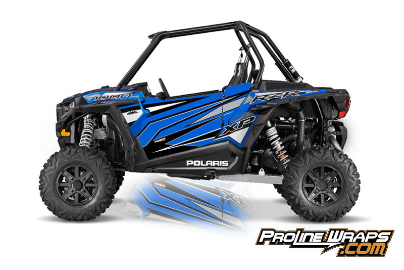 2016 Polaris RZR XP 1000 EPS Two Door Factory Graphic Kit Electric Blue Metallic