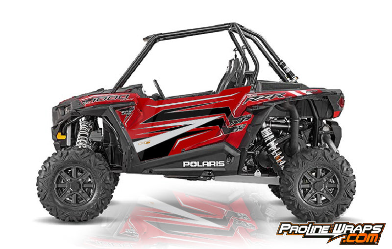 2016 Polaris RZR XP 1000 EPS Two Door Factory Graphic Kit Sunset Red