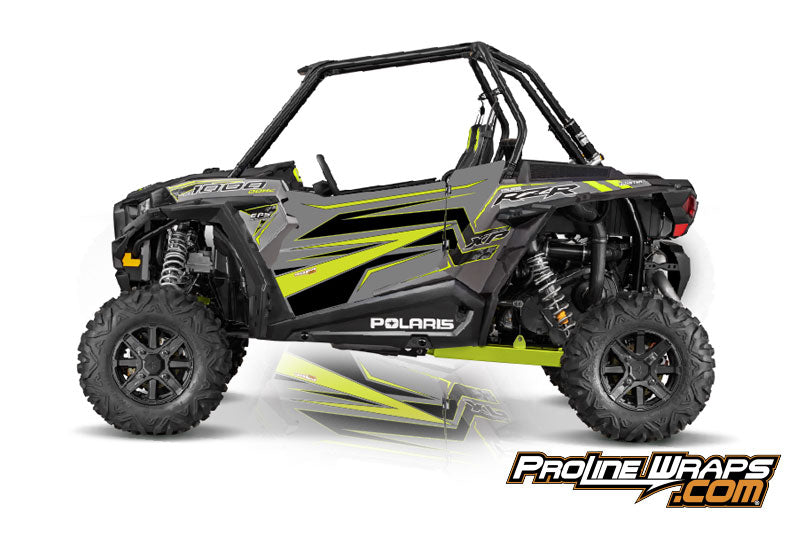 2016 Polaris RZR XP 1000 EPS Two Door Factory Graphic Kit Titanium Matte Metallic