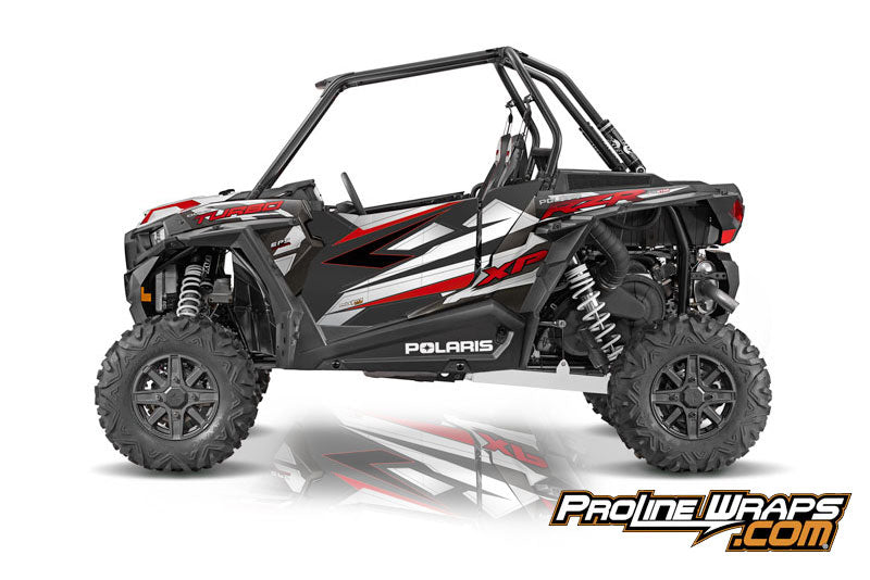 2016 Polaris RZR XP Turbo EPS Two Door Factory Graphic Kit Graphite Crystal