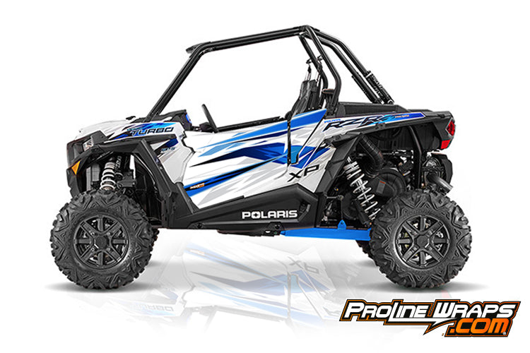 2016 Polaris RZR XP Turbo EPS Two Door Factory Graphic Kit Matte White Lightning