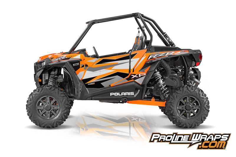 2016 Polaris RZR XP Turbo EPS Two Door Factory Graphic Kit Spectra Orange