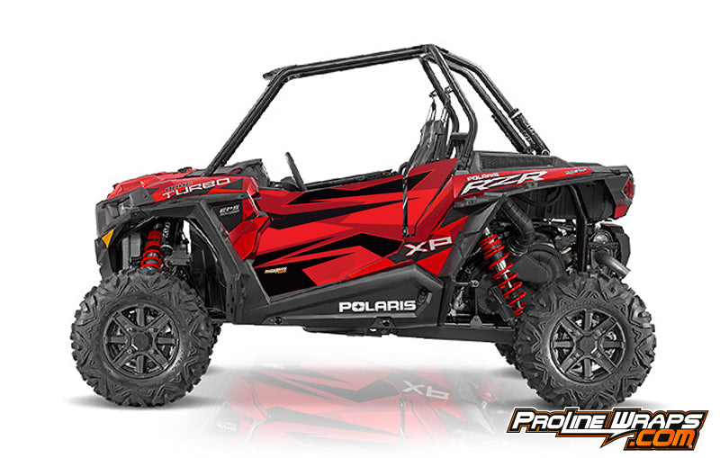 2016 Polaris RZR XP Turbo EPS Two Door Factory Graphic Kit Sunset Red Matte