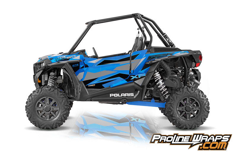 2016 Polaris RZR XP Turbo EPS Two Door Factory Graphic Kit Velocity Blue