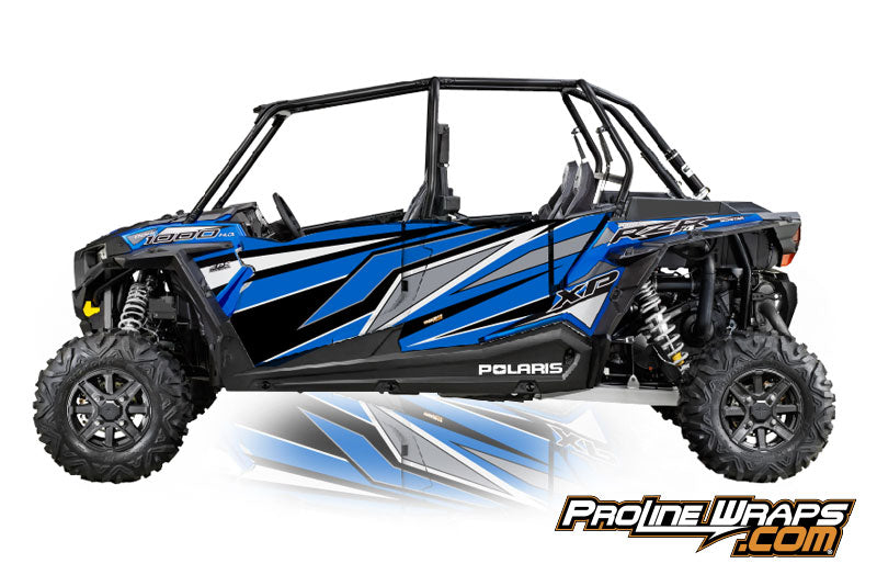 2016 Polaris RZR XP 4 1000 EPS Four Door Factory Graphic Kit Electric Blue Metallic