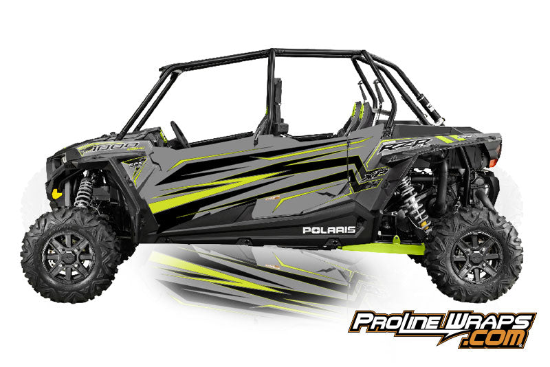 2016 Polaris RZR XP 4 1000 EPS Four Door Factory Graphic Kit Titanium Matte Metallic