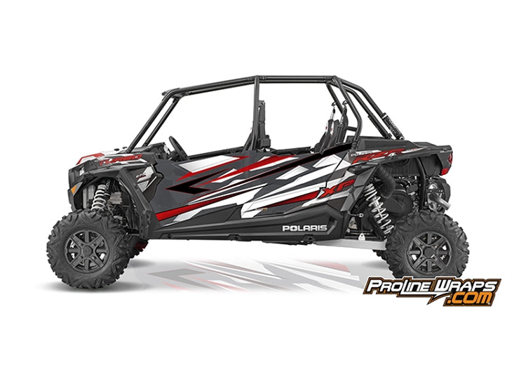 2016 Polaris RZR XP 4 Turbo EPS Four Door Factory Graphic Kit Graphite Crystal