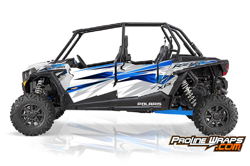 2016 Polaris RZR XP 4 Turbo EPS Four Door Factory Graphic Kit Matte White Lightning