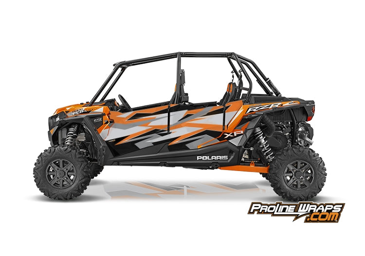 2016 Polaris RZR XP 4 Turbo EPS Four Door Factory Graphic Kit Spectra Orange
