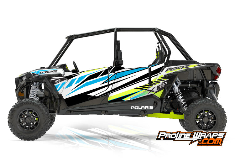2017 Polaris RZR XP 4 1000 EPS Four Door Factory Graphic Kit White Lightning