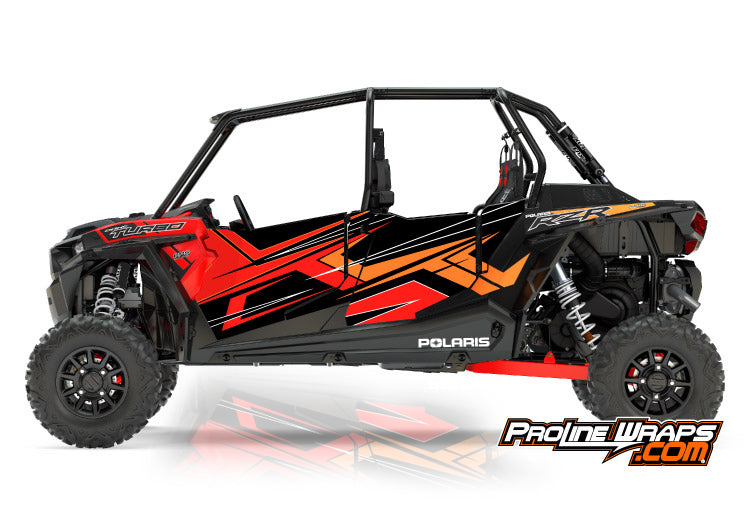 2017 Polaris RZR XP 4 Turbo EPS Four Door Factory Graphic Kit Cruiser Black
