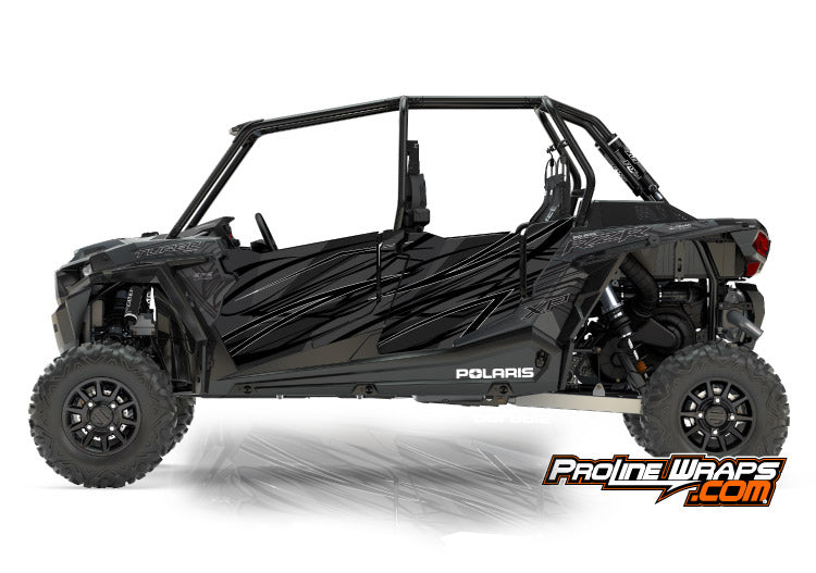 2017 Polaris RZR XP 4 Turbo EPS Four Door Factory Graphic Kit Titanium Matte Metallic