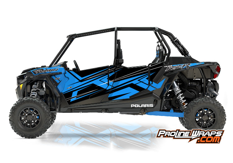 2017 Polaris RZR XP 4 Turbo EPS Four Door Factory Graphic Kit Velocity Blue