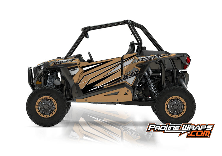 2017 Polaris RZR XP 1000 EPS Two Door Factory Graphic Kit Gold Matte Metallic