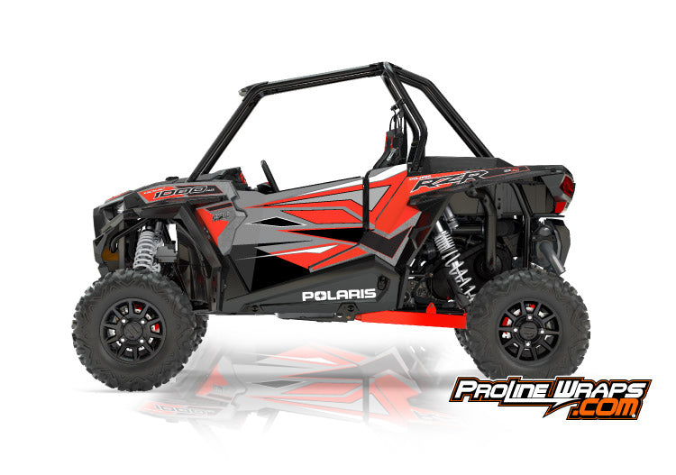 2017 Polaris RZR XP 1000 EPS Two Door Factory Graphic Kit Titanium Metallic