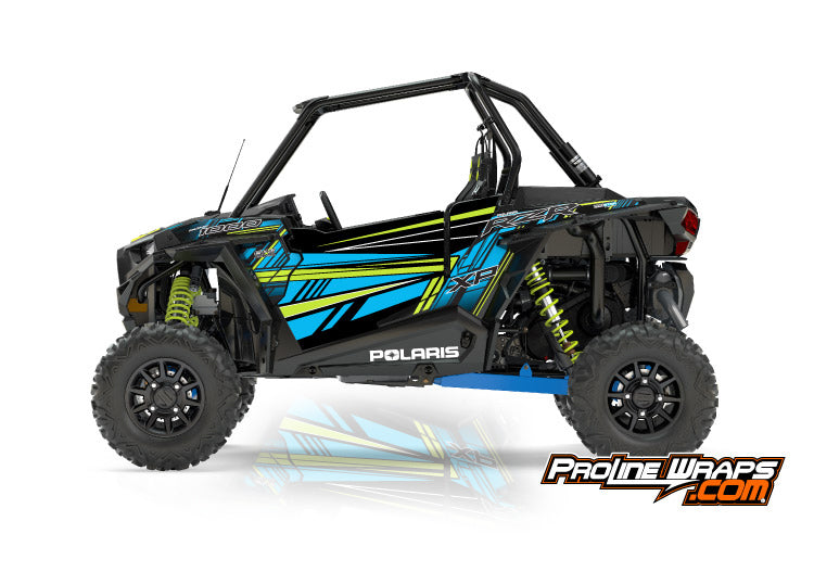2017 Polaris RZR XP 1000 EPS Two Door Factory Graphic Kit Velocity Blue LE