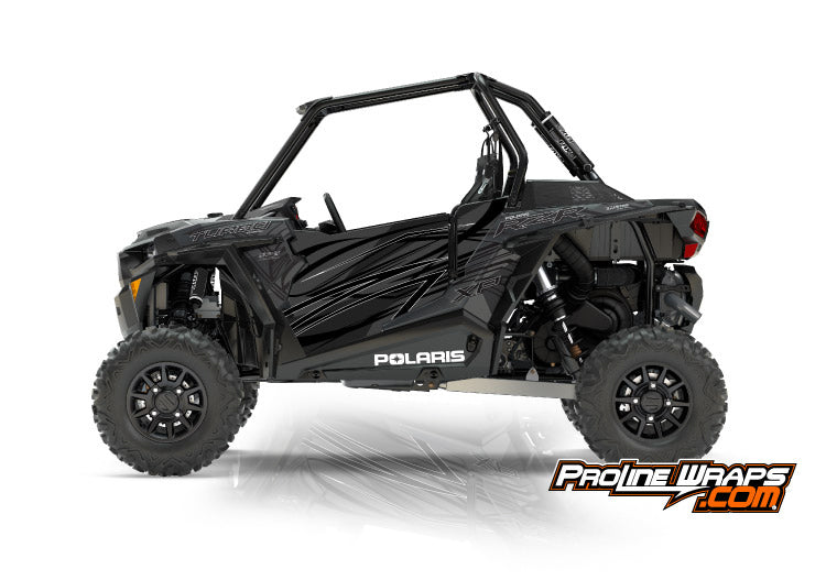 2017 Polaris RZR XP Turbo EPS Two Door Factory Graphic Kit Titanium Matte Metallic